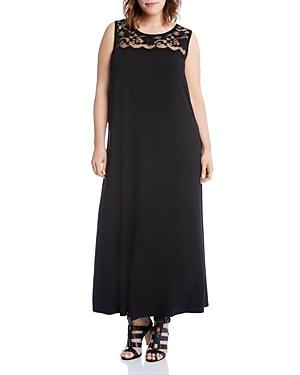Karen Kane Plus Lace Yoke Maxi Dress