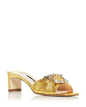 Sophia Webster Women's Margaux Embellished Mid Heel Slide Sandals