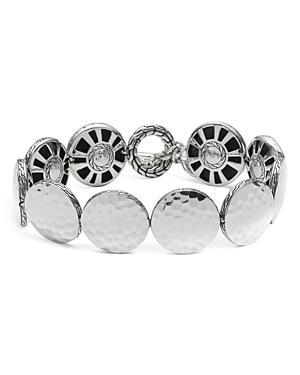 John Hardy Sterling Silver Dot Hammered Disc Bracelet