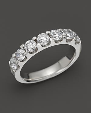 Diamond Certified 7 Station Band In 18k White Gold, 1.5 Ct. T.w.