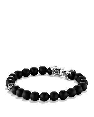 David Yurman Spiritual Beads Bracelet With Black Onyx & Black Diamonds