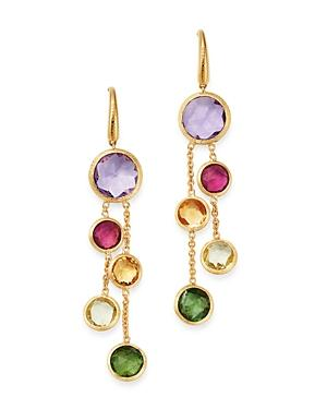 Marco Bicego 18k Yellow Gold Jaipur Color Two-strand Gemstone Drop Earrings