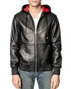 Zadig & Voltaire Bastien Hooded Leather Jacket