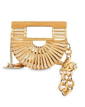 Cult Gaia Ark Mini Bamboo Belt Bag
