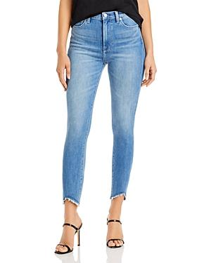 7 For All Mankind Skinny Ankle Jeans In Langley Wave