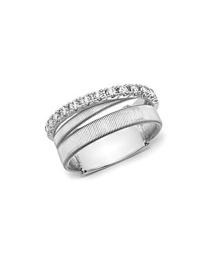 Marco Bicego 18k White Gold Masai Triple Row Diamond Ring