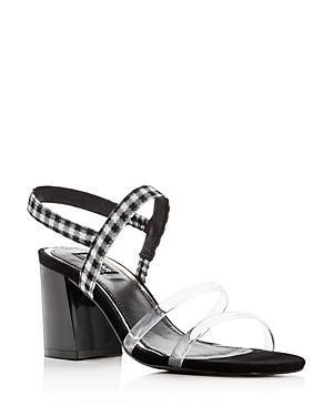 Jaggar Women's Candy Gingham Slingback Block Heel Sandals