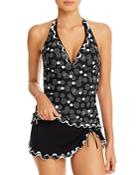 Profile By Gottex Dotted Halter Tankini Top