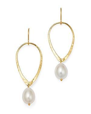 Bloomingdale's Cultured Freshwater Pearl Tear Drop Earrings In 14k Yellow Gold - 100% Exclusive