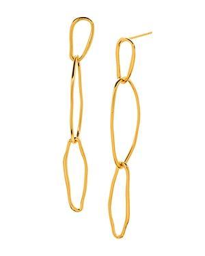 Gorjana Rowan Wavy Link Linear Drop Earrings