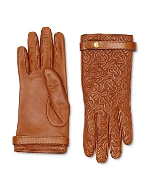 Burberry Monogram-quilted Leather Gloves