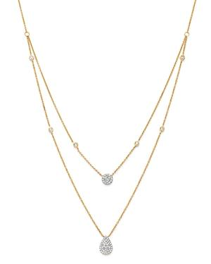 Moon & Meadow Diamond Layered Necklace In 14k Yellow Gold, 0.36 Ct. T.w. - 100% Exclusive