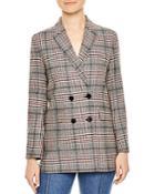 Sandro Lauryn Plaid Wool-blend Blazer