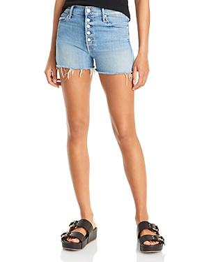 Mother The Pixie Dazzler Frayed Denim Shorts In Blowing Kisses