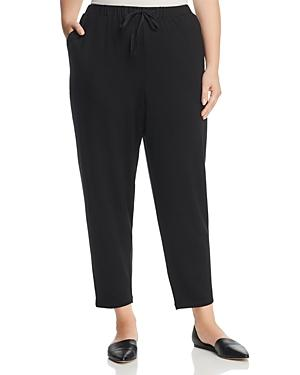 Eileen Fisher Plus Drawstring Ankle Pants