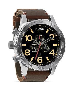 Nixon The 51-30 Chrono Leather Watch, 51mm