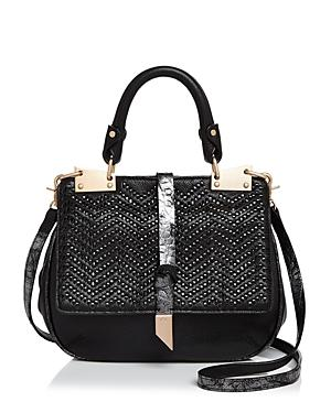 Foley And Corinna Dione Woven Leather Saddle Bag