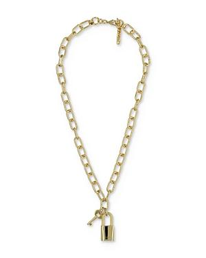 The Kooples Padlock And Key Chain Necklace