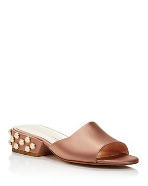Stuart Weitzman Sliderpearl Satin Slide Sandals - 100% Bloomingdale's Exclusive