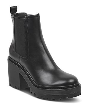 Kendall And Kylie Women's Jett Round Toe Leather Platform Booties