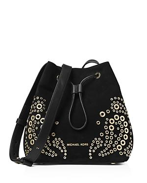 Michael Michael Kors Cary Small Suede Bucket Bag