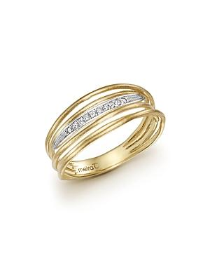 Meira T 14k Yellow Gold Ring With Diamonds