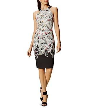 Karen Millen Ombre Blossom Sheath Dress