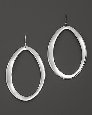 Ippolita Sterling Silver Scultura Large Wavy Oval Earrings