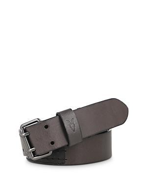 Allsaints Men's Double Rivet Square Buckle Leather Belt