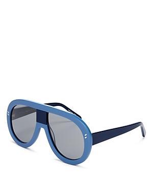 Stella Mccartney Oversized Shield Aviator Sunglasses, 57mm