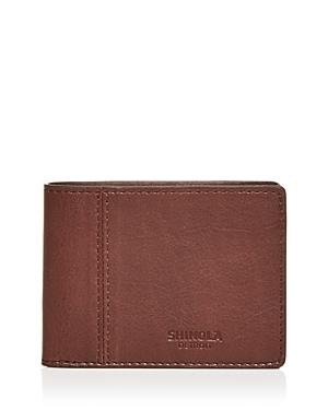 Shinola Heritage Leather Bi Fold Wallet