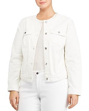 Lauren Ralph Lauren Plus Collarless Denim Jacket
