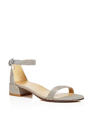 Stuart Weitzman Nudistjune Metallic Block Heel Sandals