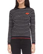 Whistles Kiss Striped Sweater
