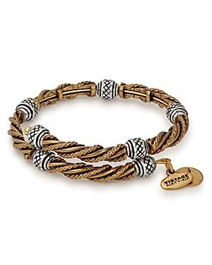 Alex And Ani Relic Two-tone Expandable Bangle