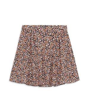 The Kooples Floral Print Flared Mini Skirt