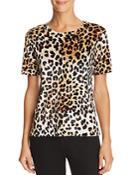 Aqua Leopard Print Velvet Tee - 100% Exclusive