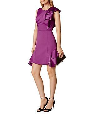 Karen Millen Sleeveless Ruffle Mini Dress