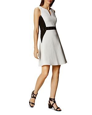 Karen Millen Textured Color Block Dress