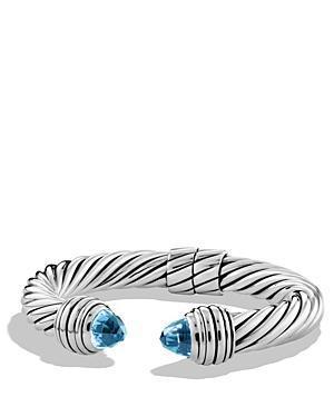 David Yurman Cable Classics Bracelet With Blue Topaz