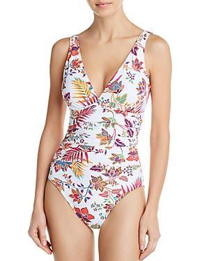 Lauren Ralph Lauren Printed One Piece Swimsuit