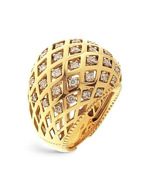 Chimento 18k White And Yellow Gold Olimpia Ring With Diamonds