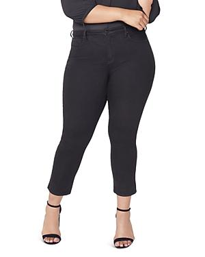 Nydj Plus Sheri Slim Ankle Jeans In Black