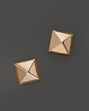 14k Rose Gold Small Pyramid Post Earrings