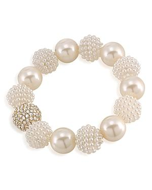Carolee Simulated Pearl Beaded Bracelet