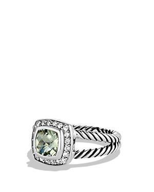 David Yurman Petite Albion Ring With Prasiolite & Diamonds