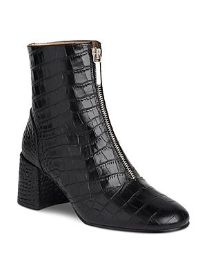 Whistles Women's Rowan Croc-embossed Patent Leather Boots
