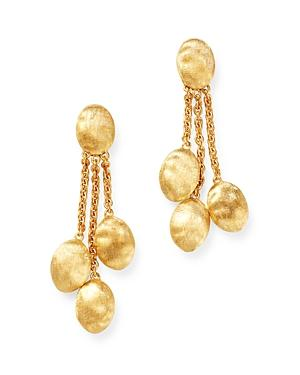Marco Bicego 18k Yellow Gold Siviglia Three-strand Chain Link Drop Earrings