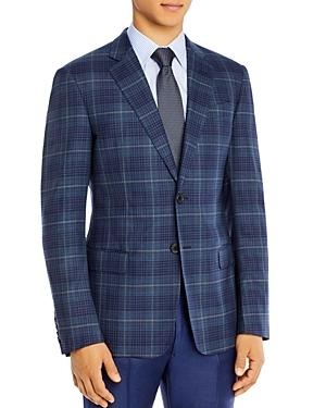 Armani Wool Plaid Classic Fit Tailored Jacket