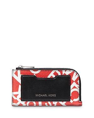 Michael Kors Scattered Logo Zip Wallet